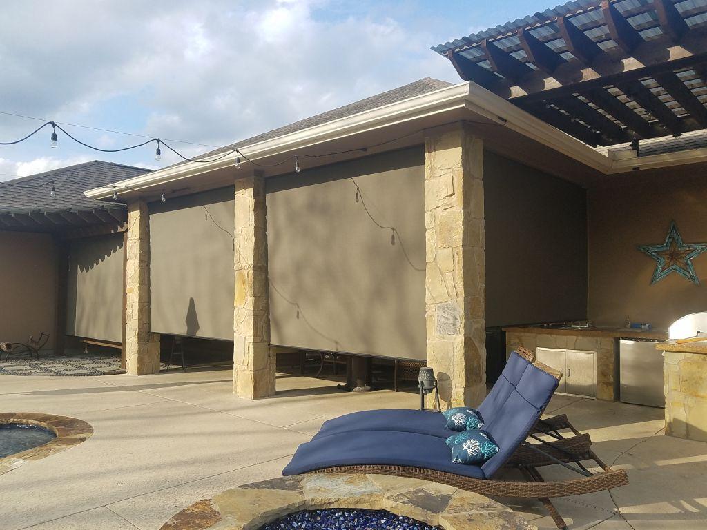 outdoor patio roller blinds